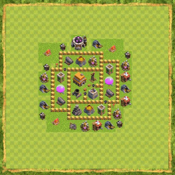 Base War Coc Th 5 33