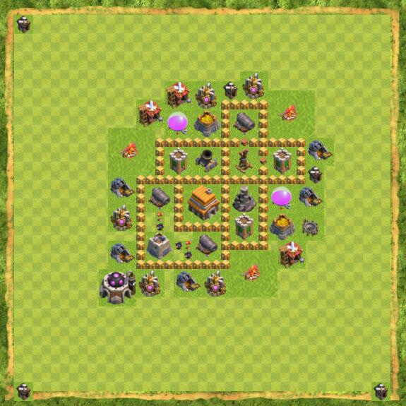 Base War Coc Th 5 36