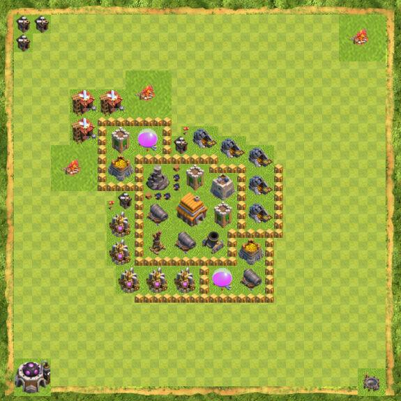 Base War Coc Th 5 4