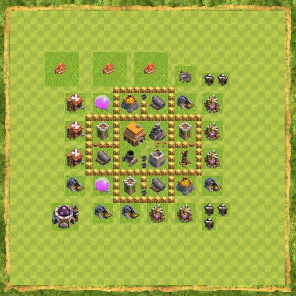 Base War Coc Th 5 7