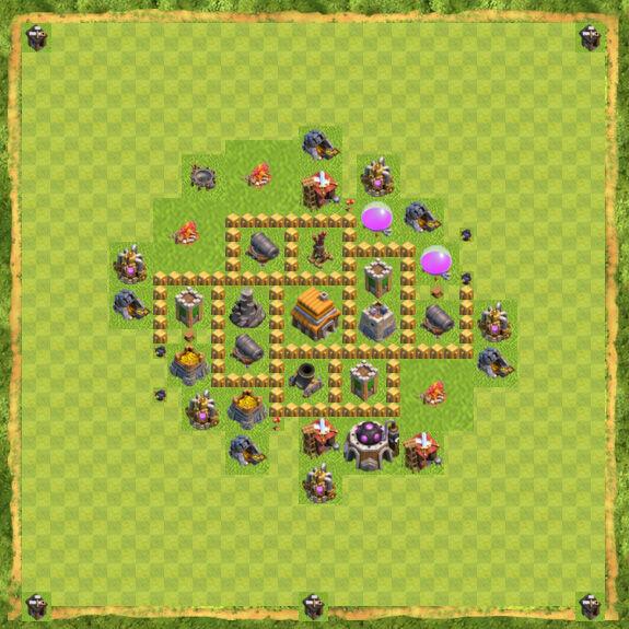 Base War Coc Th 5 8