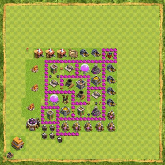 Base Farming Coc Th 6 10
