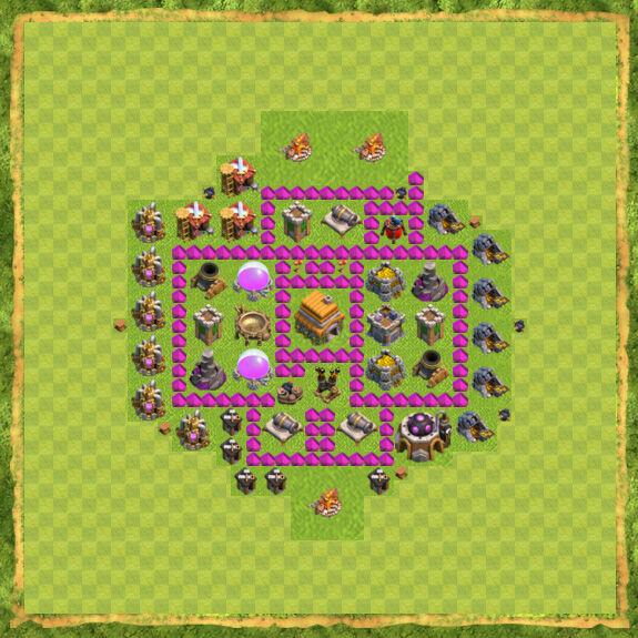 Base Farming Coc Th 6 11