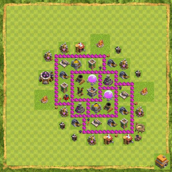 Base Farming Coc Th 6 12