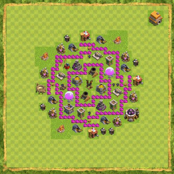 Base Farming Coc Th 6 14
