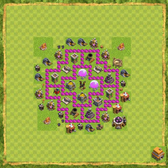 Base Farming Coc Th 6 17