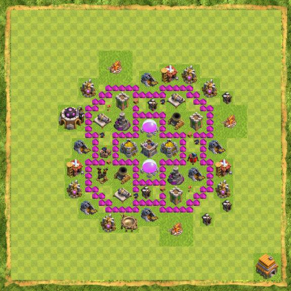 Base Farming Coc Th 6 24