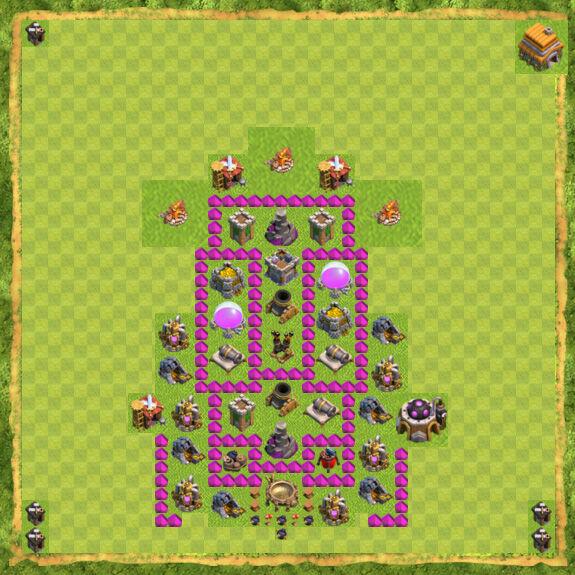 Base Farming Coc Th 6 30