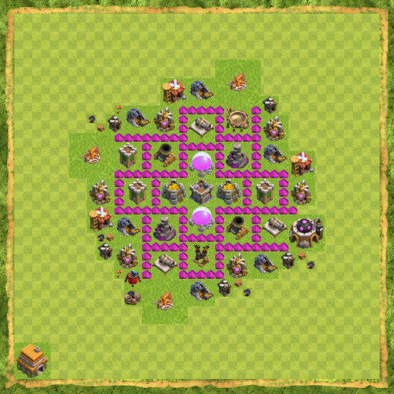 Base Farming Coc Th 6 31