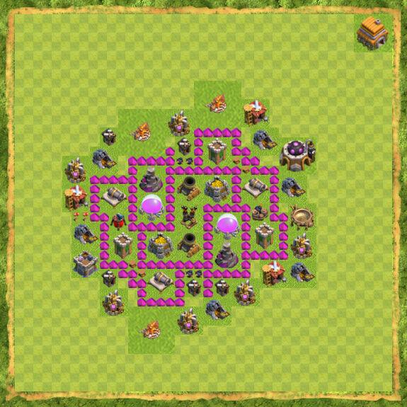 Base Farming Coc Th 6 33