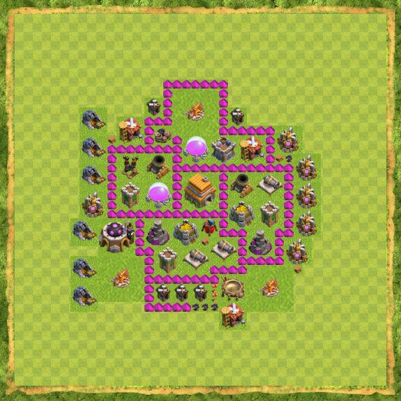 Base Farming Coc Th 6 34