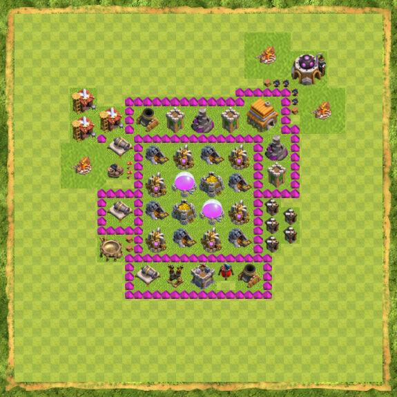 Base Farming Coc Th 6 37