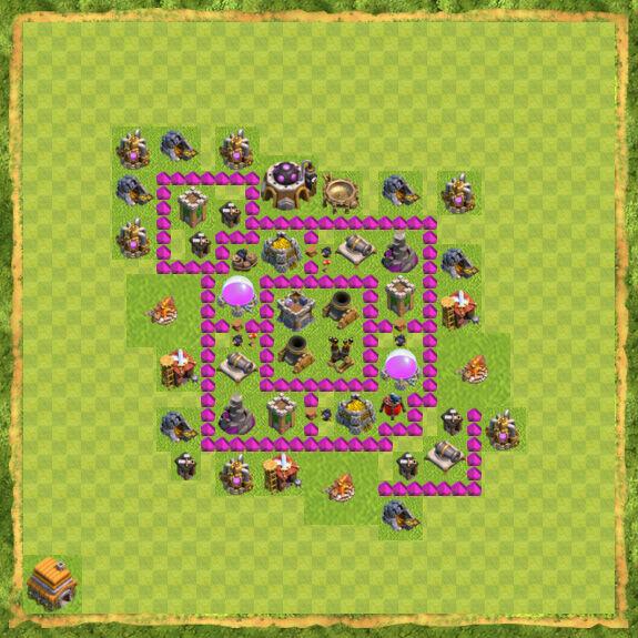 Base Farming Coc Th 6 39