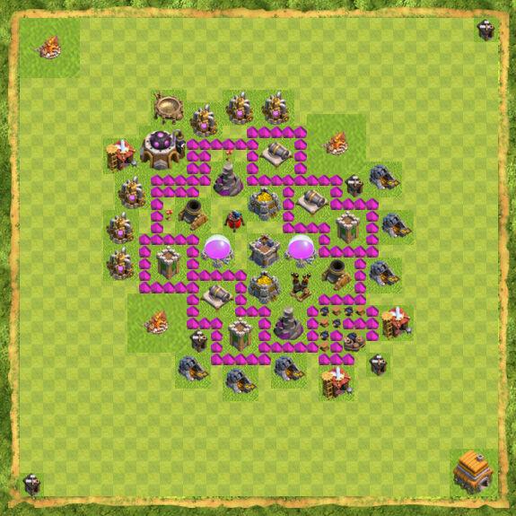 Base Farming Coc Th 6 4