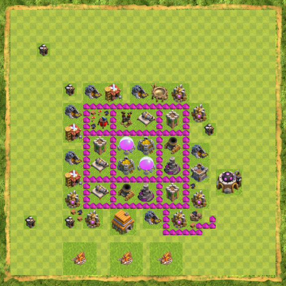 Base Farming Coc Th 6 40