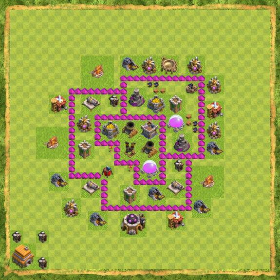 Base Farming Coc Th 6 42