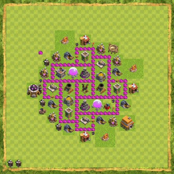 Base Farming Coc Th 6 45