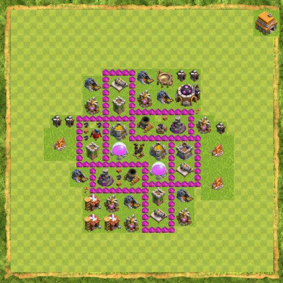 Base Farming Coc Th 6 5
