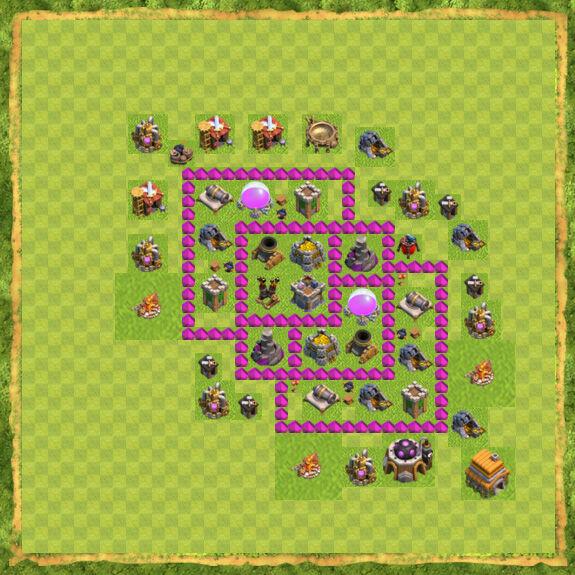 Base Farming Coc Th 6 6