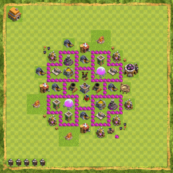 Base Farming Coc Th 6 7
