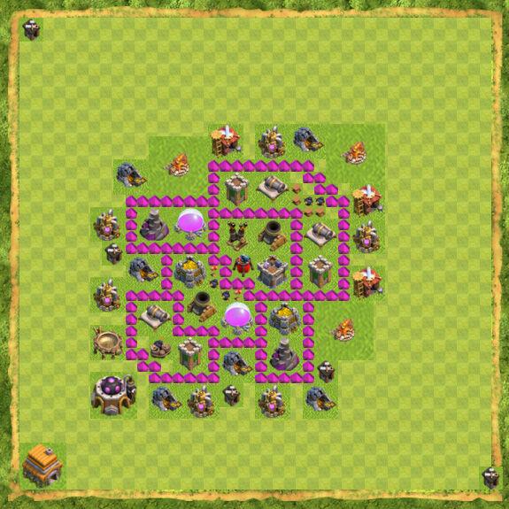 Base Farming Coc Th 6 8