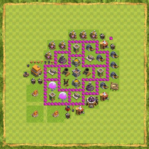Base Farming Coc Th 6 9