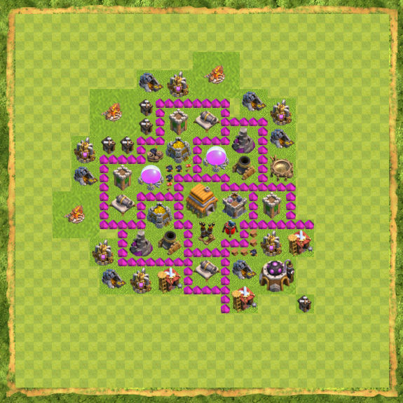 Base Defense Coc Th 6 11