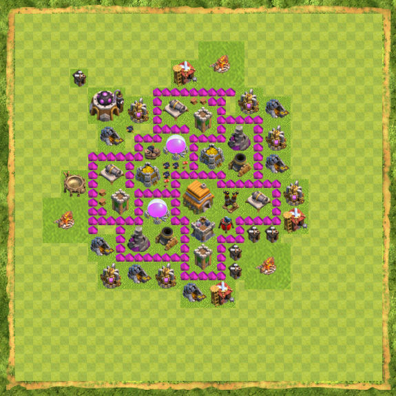 Base Defense Coc Th 6 12