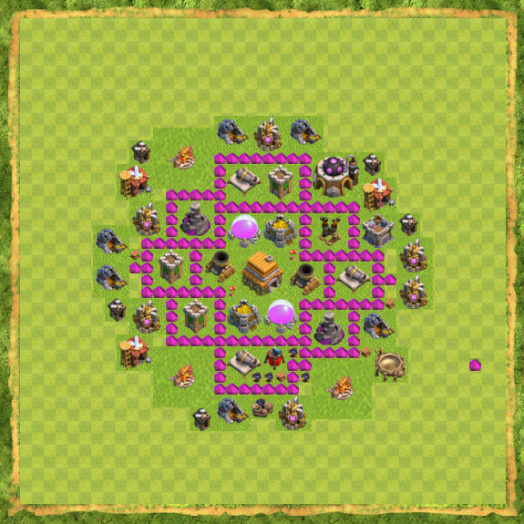 Base Defense Coc Th 6 16