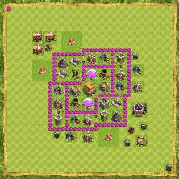 Base Defense Coc Th 6 20