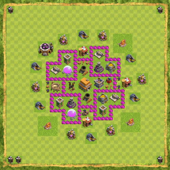 Base Defense Coc Th 6 29