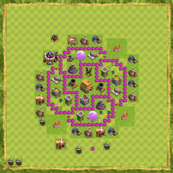 Base Defense Coc Th 6 45