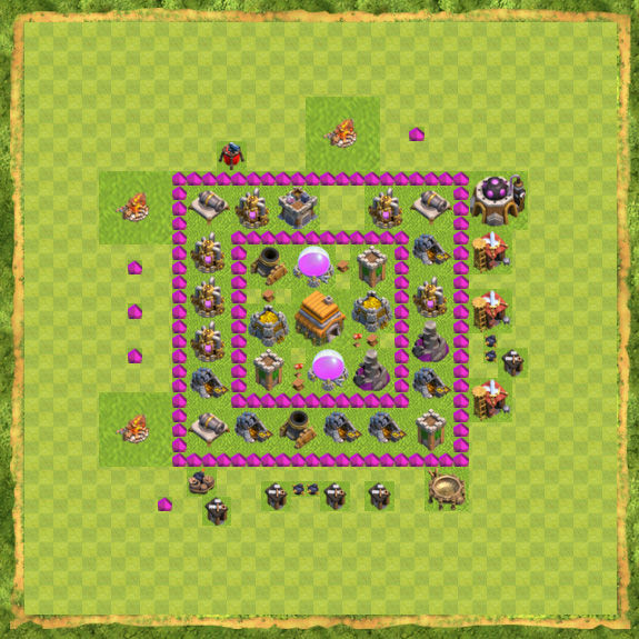 Base Defense Coc Th 6 6