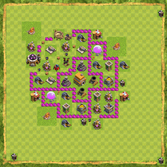 Base Defense Coc Th 6 7