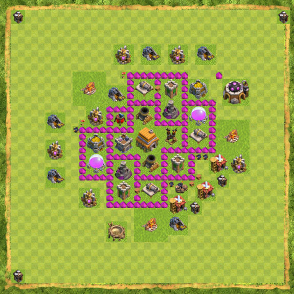 Base War Coc Th 6 1