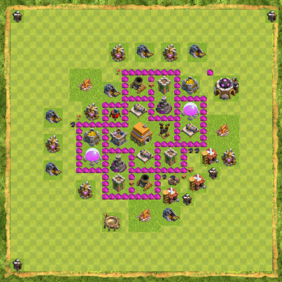Base War Coc Th 6 12