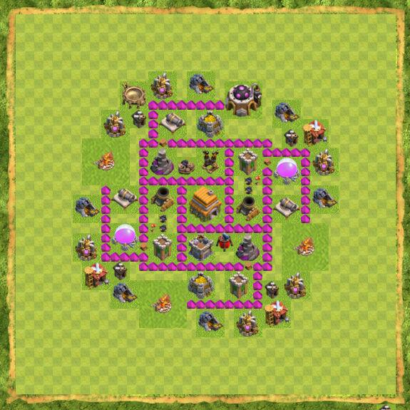 Base War Coc Th 6 15