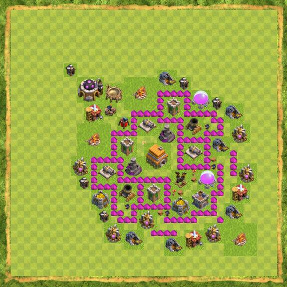 Base War Coc Th 6 28