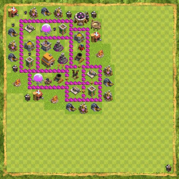 Base War Coc Th 6 3