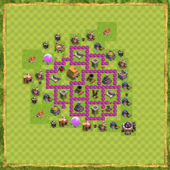 Base War Coc Th 6 30