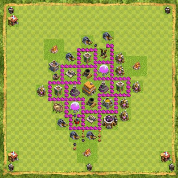 Base War Coc Th 6 31