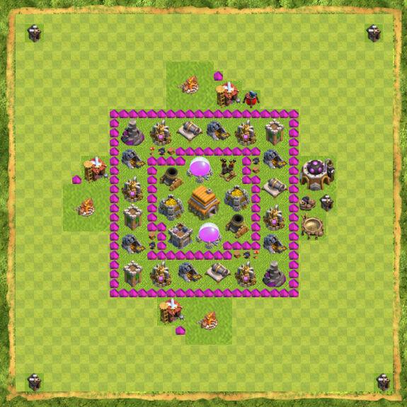 Base War Coc Th 6 36