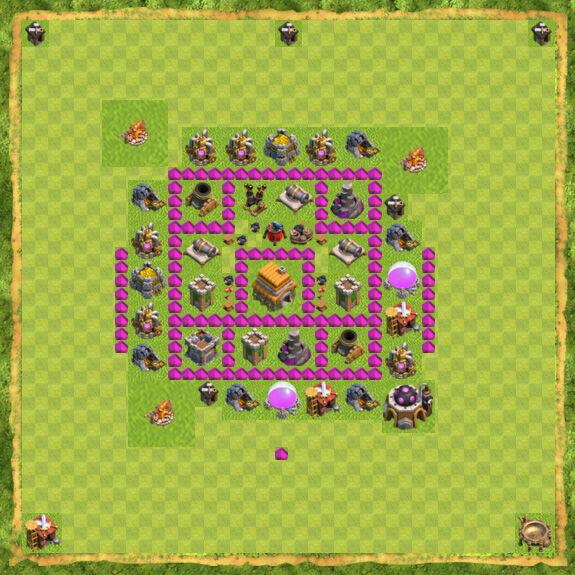 Base War Coc Th 6 5