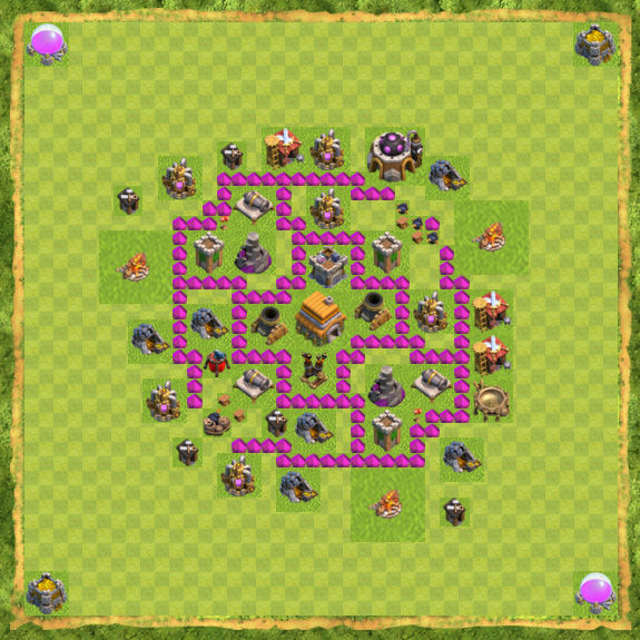 Base War Coc Th 6 9
