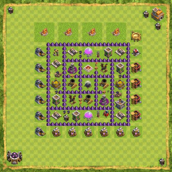 Base Farming Coc Th 7 11