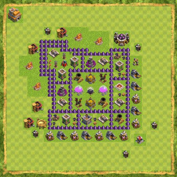 Base Farming Coc Th 7 15
