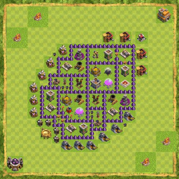 Base Farming Coc Th 7 18