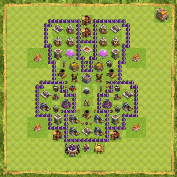 Base Farming Coc Th 7 19
