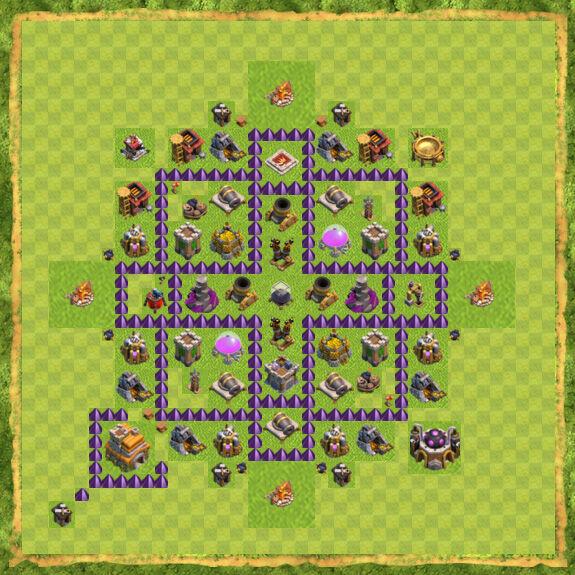 Base Farming Coc Th 7 2