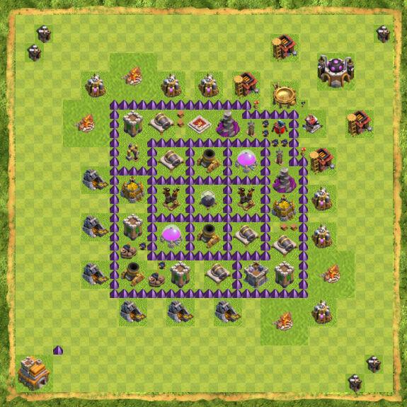 Base Farming Coc Th 7 20